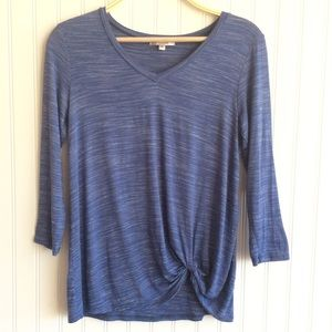 Moa Moa Periwinkle Blue 3/4 Sleeve Top-M